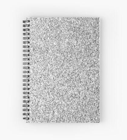 Beautiful Silver glitter sparkles Spiral Notebook