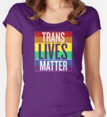 Trans Lives Matter Women's Fitted Scoop T-Shirt