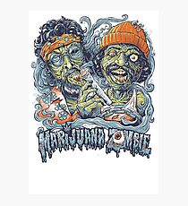 Cheech and Chong Up In Smoke hemp Marijuana Zombie Photographic Print