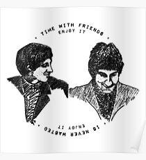 John Entwistle & Pete Townshend - Graphic Portrait (with lyrics!) Poster