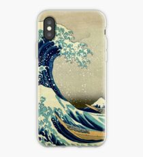 Hokusai, The Great Wave off Kanagawa, Japan, Japanese, Wood block, print iPhone-Hülle & Cover