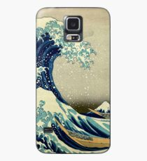 Hokusai, The Great Wave off Kanagawa, Japan, Japanese, Wood block, print Hülle & Klebefolie für Samsung Galaxy