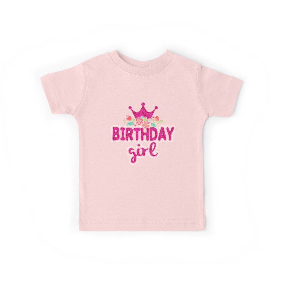 8d5816443 «Regalo de camisa de niña de cumpleaños para mujeres   niñas» de niftee