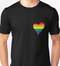 LGBT Gay Pride Herz Unisex T-Shirt