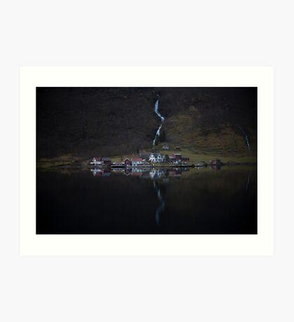 Fluss, der verschwindet Kunstdruck