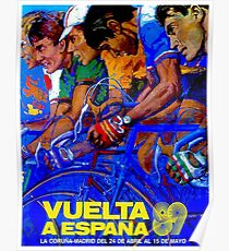 VUELTA A ESPANA : Vintage Bike Racing Advertising Print Poster