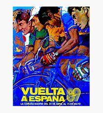 VUELTA A ESPANA : Vintage Bike Racing Advertising Print Photographic Print