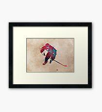 Hockey player 1 #hockey #sport Framed Print