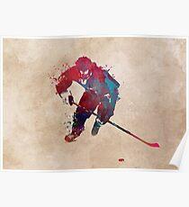 Hockey player 1 #hockey #sport Poster