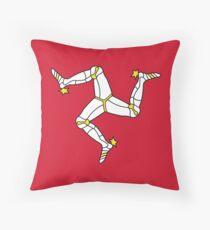 Flag of the Isle of Mann Throw Pillow