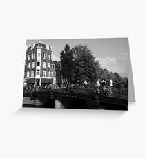 Canal Bridge In Amsterdam Greeting Card