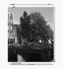 Canal Bridge In Amsterdam iPad Case/Skin