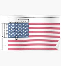 USA American Perfection US Flag Stars and Stripes  Poster