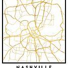 NASHVILLE TENNESSEE CITY STREET MAP ART by deificusArt
