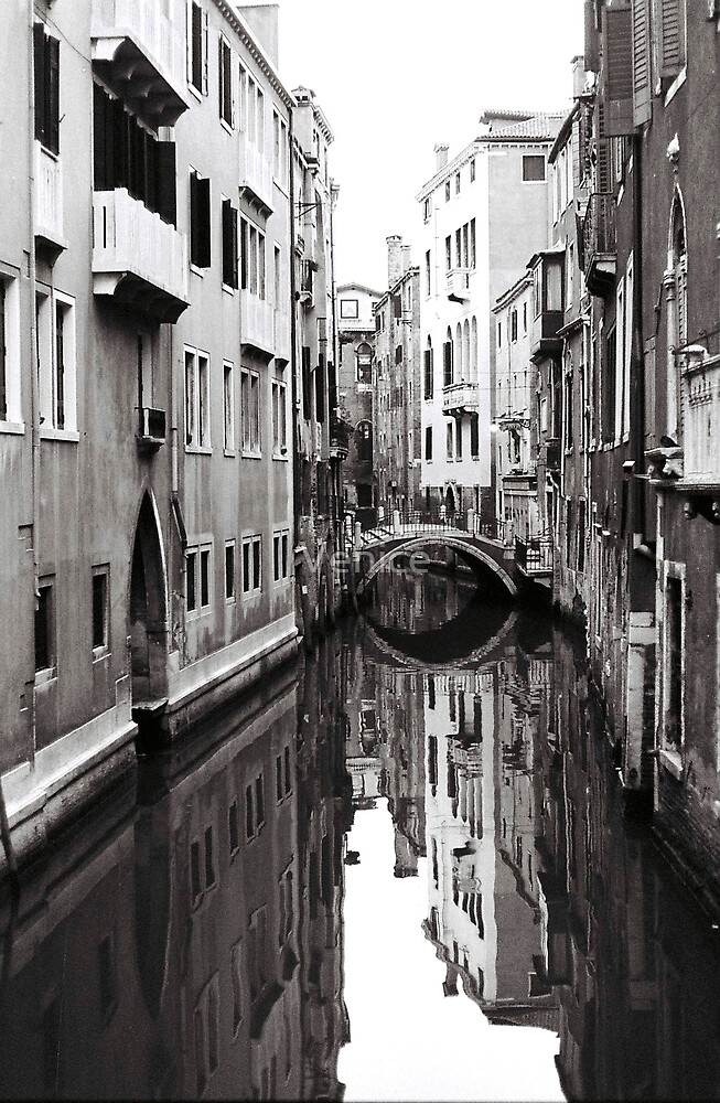 Canal Reflections by Venice