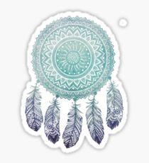 Aqua Ombre Dream Catcher Sticker