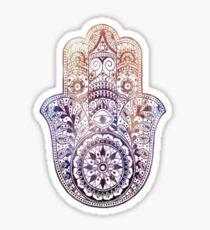 Fatima Hand Hamsa Purple Orange Sticker