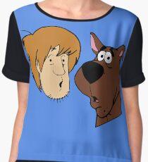 A man and a dog Women's Chiffon Top