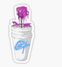 Double Cup Rose Sticker