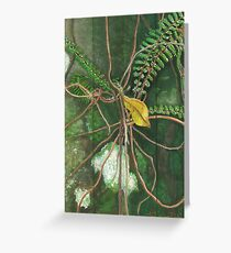 Entanglement (detail section 1c), On the Outer ~ Tree Trunk Extracts Greeting Card