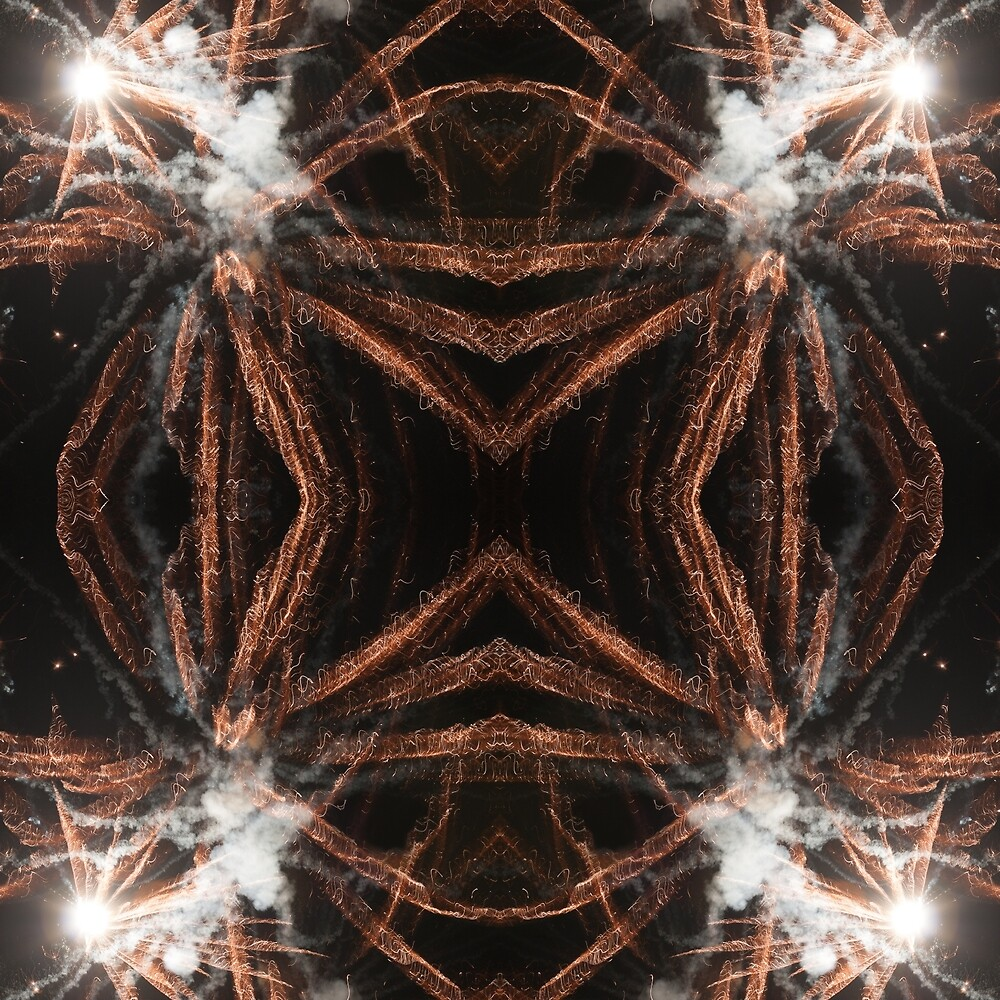 Gold fireworks abstract gold black smoke by PLdesign