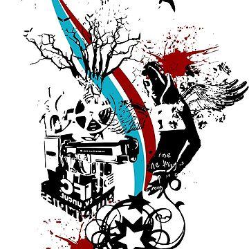 Angel Hell T-Shirt by claudiorrb