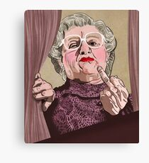 Mrs Doubtfire - Illustration - Robin Williams - Film - Funny Canvas Print