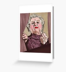 Mrs Doubtfire - Illustration - Robin Williams - Film - Funny Greeting Card