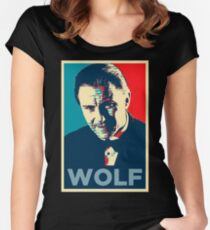 Mr. Wolf Pulp Fiction (Obama Effect) Women's Fitted Scoop T-Shirt