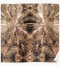 Happy New Year Gold sparkly fireworks Poster
