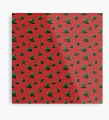 Sparkly Christmas tree green sparkles pattern Metal Print