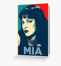 Mia Pulp Fiction (Obama Effect) Greeting Card