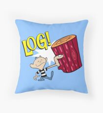 Log! Throw Pillow