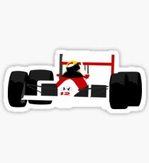 Ayrton Senna McLaren Mp4/4 Minimal Illustration Sticker
