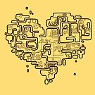 Heart maze - lines version by coldmonster