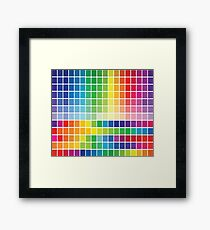Abstract Color Chart Palette Guide Framed Print