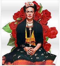 Frida Kahlo Rosas rojas Poster