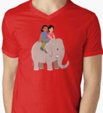 Elelphant Ride Men's V-Neck T-Shirt