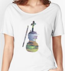 A violin Women's Relaxed Fit T-Shirt