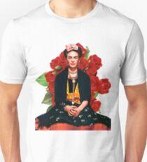 Frida Kahlo Rosas rojas Unisex T-Shirt