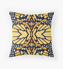 Monarch Butterfly Abstract Wing Pattern Throw Pillow