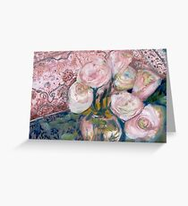 Roses on Big Mama's Chest Greeting Card