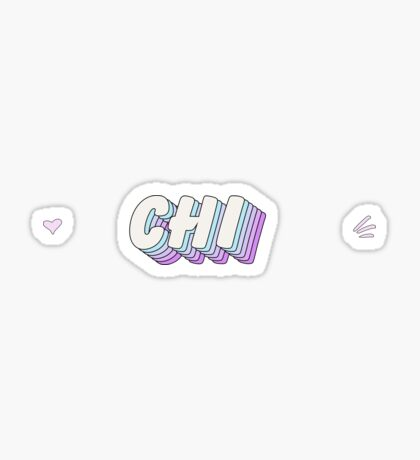 Pop Art 1.5 (¡ajuste de tamaño!) - chi Pegatina