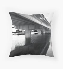 the bridge at Budgewoi Throw Pillow