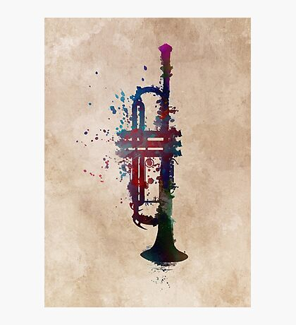trumpet art #trumpet #music Photographic Print