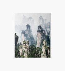 Floating mountains Zhangjiajie National Forest Park art photo print Art Board