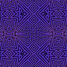 Purple/Black Tribal Pattern by Lyle Hatch