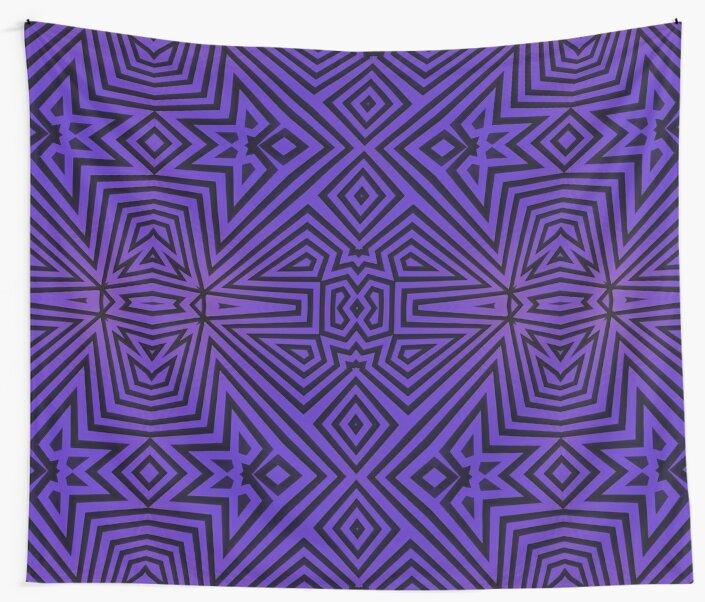 Purple/Black Tribal Pattern by Lyle Hatch
