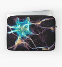 Brain cells network of neurons 3D illustration art photo print Laptop Sleeve