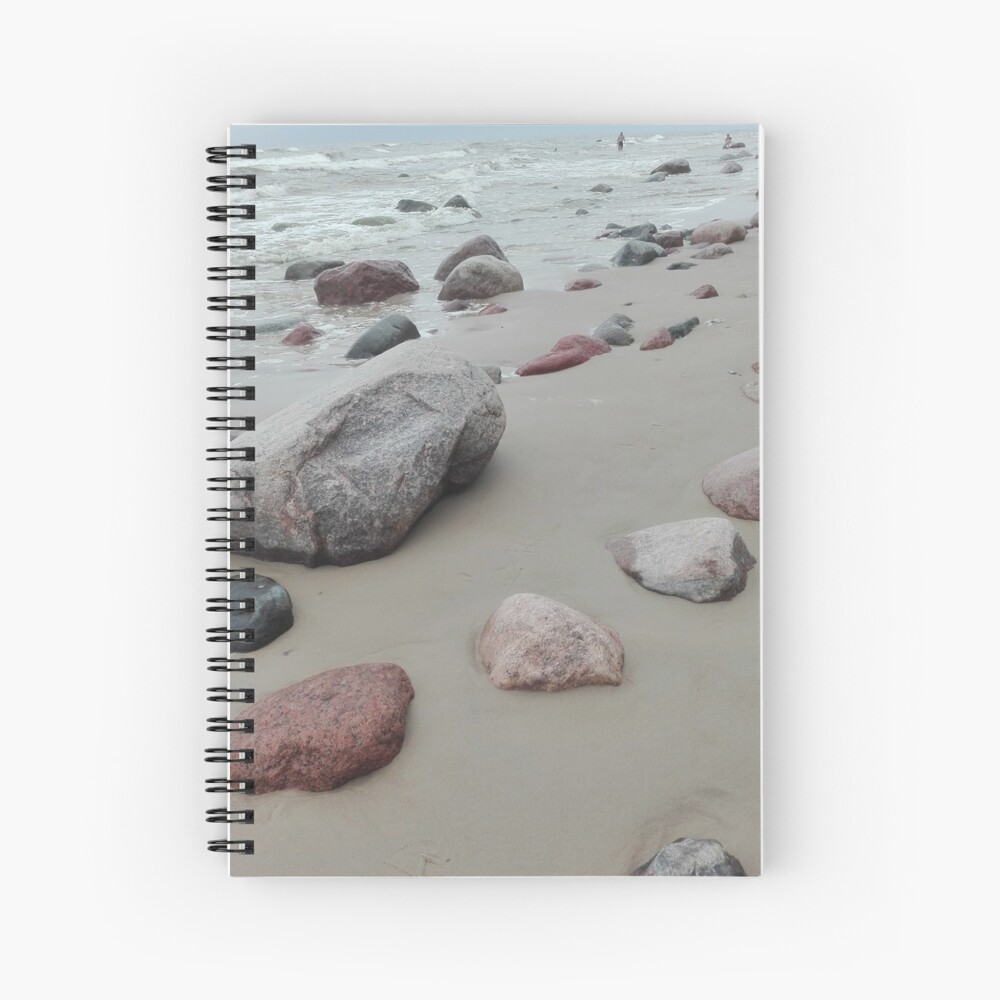 Beach stones on the Baltic Sea Spiral Notebook